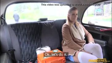 Hot Nurse Crissy bangs in the taxi