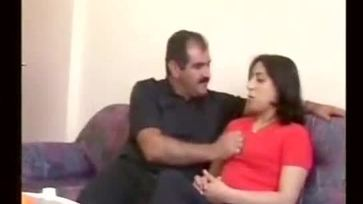 Arab Nani and Cute lady kiss and lick