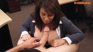 Busty amateur milf banged to earn money for husbands bail