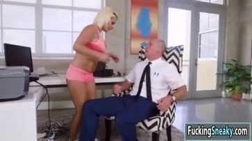 Horny Sara getting fucked by a tech guy
